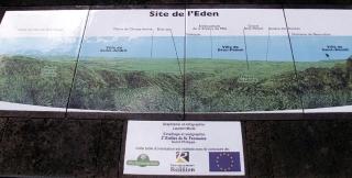 Table d'orientation belvédère de l'Eden Bras-Panon La Réunion