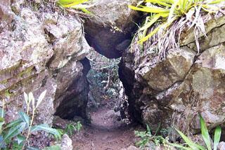 Randonnée Sentier GR2 Cascade de Bras Rouge Cilaos île de La Réunion.