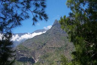 Vue randonnée Piton des neiges La Réunion.