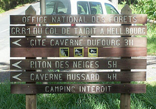 Panneau office National des forêts Piton des neiges.