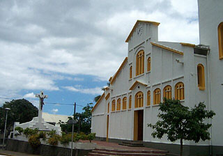 Église Saint-Vincent-de-Paul Entre-Deux île de La Réunion.