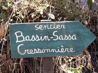 Randonnée sentier Bassin Sassa Entre-Deux île de La Réunion.