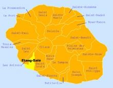 Carte de la commune de l'Étang-Salé La Réunion.