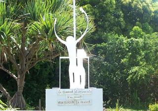 Ancien Monument aux morts étang-salé île de La Réunion.