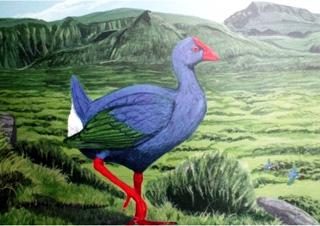 Porphyrio coerulescens. Oiseau bleu