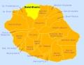 Carte gîte Saint-Denis La Réunion