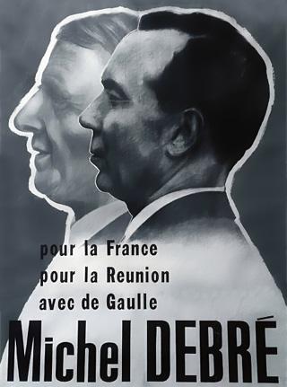 Affiche électorale Debré de Gaulle