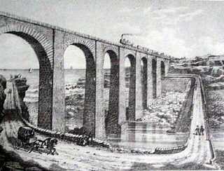 Chemin de fer pont de La Grande Ravine Saint-Leu