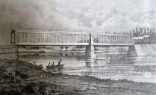Pont de chemin de fer étang de Saint-Paul