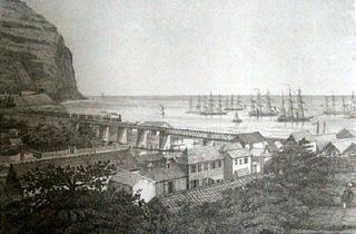 Chemin de fer pont rivière Saint-Denis