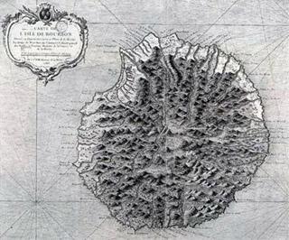 Carte de l'île bourbon 1763