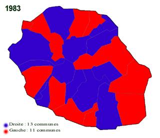 Carte municipales 1983 La Réunion