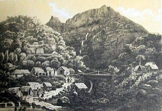 Vue sur le village de Cilaos.