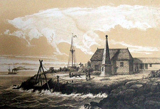 Débarcadère de Sainte-Rose en 1847