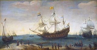 Départ des navires de la Compagnie des Indes