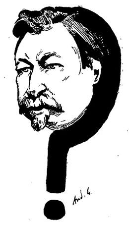 Caricature François Césaire de Mahy par André Gill