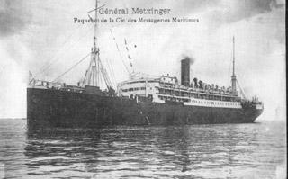Paquebot Général-Metzinger des messageries maritimes