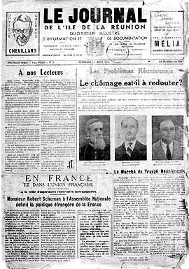 1951 premier numero Journal de l'île de La Réunion. JIR