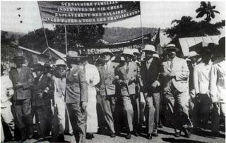 Manifestation 1er mai 1937 à La Réunion