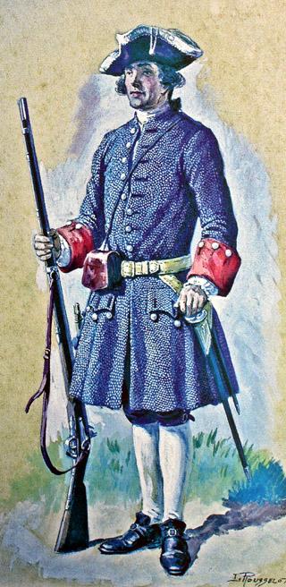 Milice de Bourbon en 1742