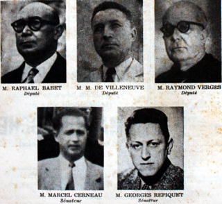 Parlementaires de La Réunion en 1954