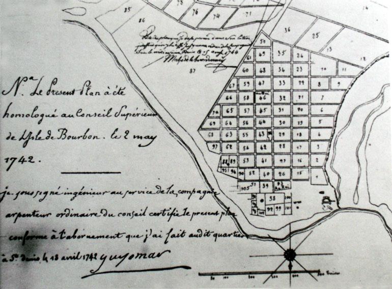 Plan Guyomard ville de Saint-Denis La Réunion