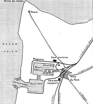 Plan du Port de la Pointe des Galets
