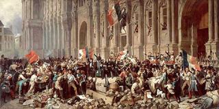 Révolution à Paris février 1848.