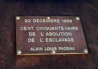 Saint-Paul, mémorial du cent cinquantenaire de l'abolition de l'esclavage.