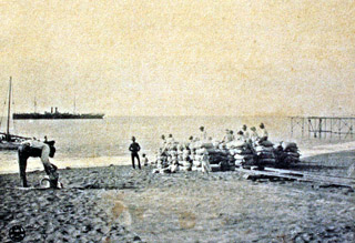 Embarquement de sucre Rade de Saint-Paul en 1905