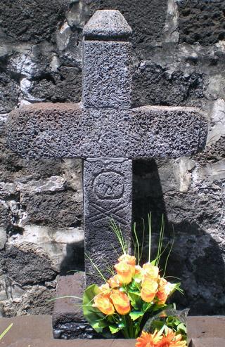 Croix tombe de La Buse cimetière marin de Saint-Paul