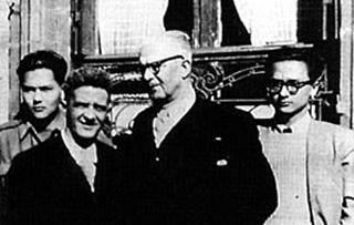 Léon de Lepervanche et Raymond Vergès en 1945