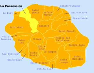Carte de la commune de La Possession La Réunion