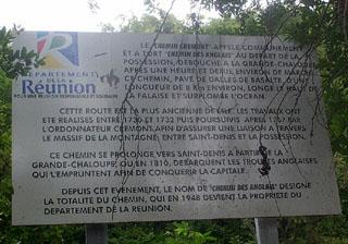 Chemin des Anglais La Réunion.