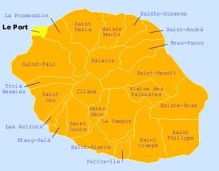 Carte de la commune du Port La Réunion