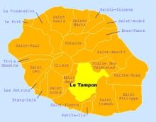 Carte de la commune du Tampon La Réunion