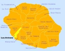 Carte de la commune des Avirons La Réunion.