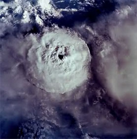 Photo oeil d'un cyclone