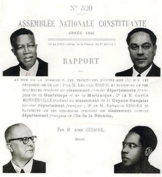 19 mars 1946 Loi de départementalisation