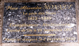 Plaque Alexandre Monnet Saint-Paul