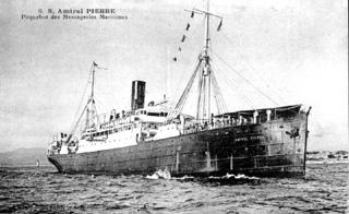 Paquebot Amiral Pierre des messageries maritimes