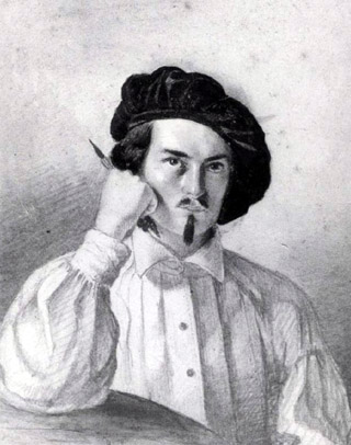 Autoportrait de Louis Antoine Roussin, 1845. Collection Bernard Roussin