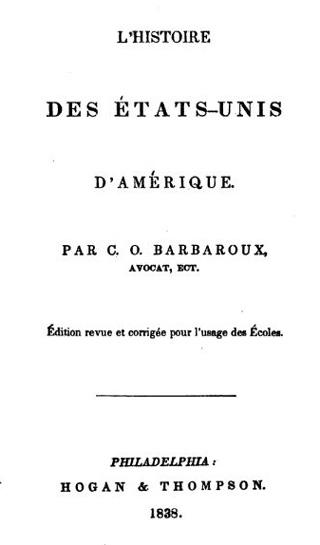 Histoire Etats-Unis d'Amérique de Charles Ogé Barbaroux