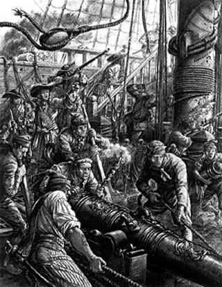 Bataille sur un navire