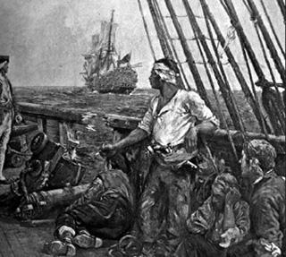 Bataille sur un navire pirate