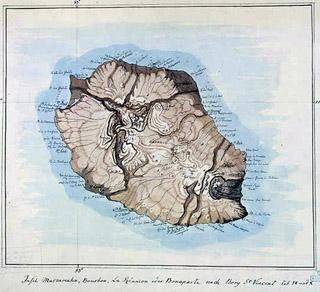 Carte de La Réunion par Bory de Saint-Vincent