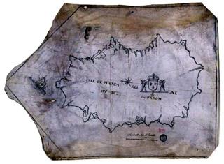 Carte de Bourbon 1600 - 1700