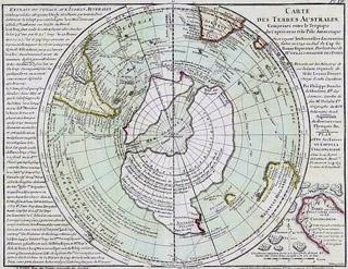 Carte des Terres Australes de Philippe Buache