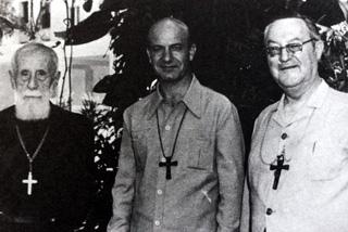 évêques de La Réunion : Langavant, Aubry, Guibert