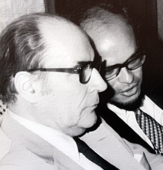 Wilfrid Bertile et François Mitterrand